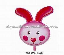 Advertising foil balloon in rabbit