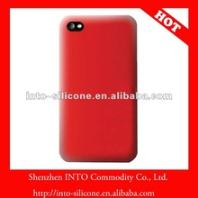 Pure red silicone/rubber case for iphone 4s/4g