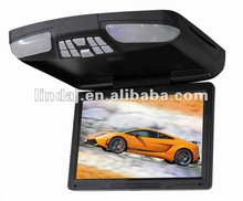 """12.1"""" auto overhead flip down roof mounted dvd player with monitor for car with TV/Wireless games/USB/SD"""