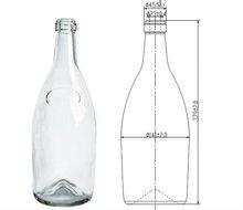 2500 wine glass bottle in white color