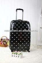 Dot hard shell and good trolley Luggage/suitcase