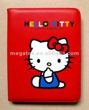 Super slim Hello Kitty Folio leather case for ipad 2 3 4 , for ipad case hello kitty ,for ipad air mini case