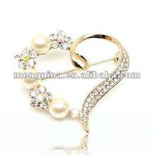 Jewellery,2012 new glitter crystal heart brooch B00402