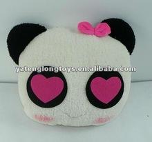 hot sale cute and cheap soft plush panda cushion