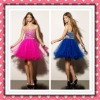 2012 New Arrival Stylish Short Organza Beaded Royal Blue Pink Cocktail Dress Party Dress MLC-125