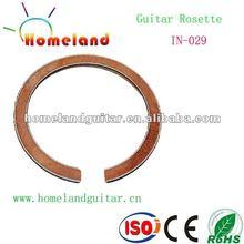 In-029 la madera con incrustaciones de roseta soundhole belleza roseta guitarra acústica