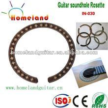 In-030 con incrustaciones de madera boca Rosette belleza acústica de la guitarra