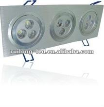 2012 Good Product RGB IR Remote Control LED Ceiling light 9*1W