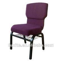 2012 new design fabric church chair