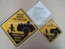 reflective car sticker window sign /fluorescent car sticker decal