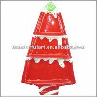 big ceramic christmas cake shape plate