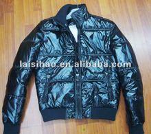 2012 mens shiny black coats and jackets for winter