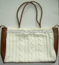 bag,hand knitted bag,wool bag