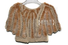 women winter knitted rex rabbit fur jacket