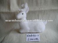 styrofoam white christmas animal