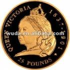 Queen Victoria gold coating souvenir coin