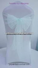organza chair sash, chair sash for wedding, chair sash in various color