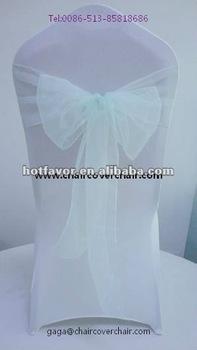 organza chair sash, chair sash for wedding, chair sash in various color