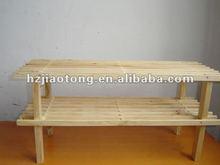 wood shoe rack