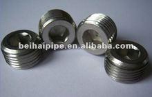 Stainless steel hex plug