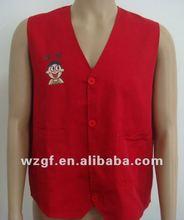 red working vests & waistcoats