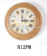 2012 hot sale shabby metal wall clock
