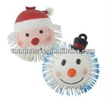 5inch snowman puffer ball /5inch flashing Santa Claus