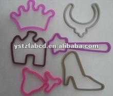 2012 multi-shape elastic rubber band for little girls