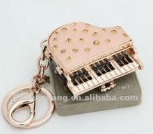 2012 fashion metal piano keychain