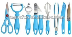 8pcs common stainless steel kitchen tools B-12345789/G-12345789/Y-12345789