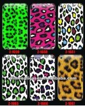 Embossed print leopard and tiger hard cases for Blackberry case of model 8520/8530