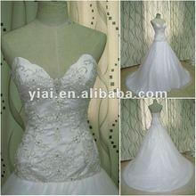 JJ2647 Drop Shipping Ball Gown sliver embroidery white designer Bridal wedding dress 2012