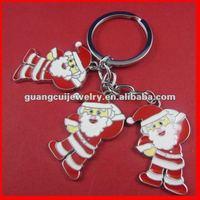 fashion zinc alloy Santa Claus keychain men key chain key ring