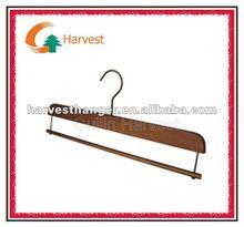 antique wooden bottom hangers with round bar