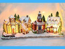 Resin Lighting Christmas House For 2012