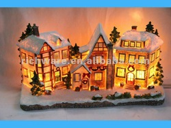 Large Christmas Village Light Houses For 2012