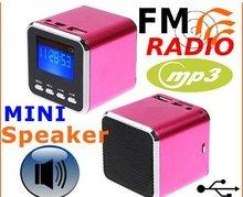Digital portable Speaker Mini Speaker MP3 Player USB Disk Micro SD TF Card FM Radio Line In/ Out sound