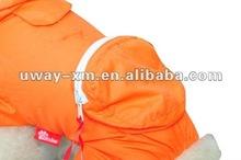 UW-PRC-006 2012 Designer waterproof pvc orange cat raincoats with satchel