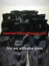 hor sale malaysian virgin human hair clip in hair weft