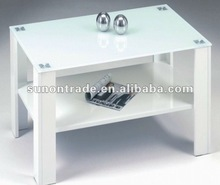 2012 cheap glass coffee table designs with wooden legs