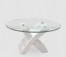 2012 oval glass coffee table designs with painting wooden legs