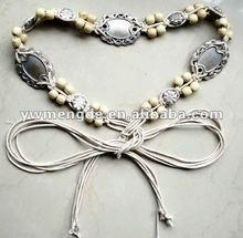 fashion braided wooden beads belt