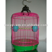 UW-PT-006 Round shaped pink wire pet cages for small birds living