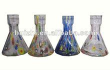Blown glass bottles for hookah shisha base