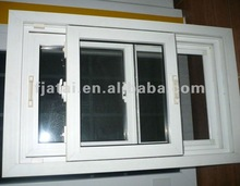 European style UPVC Sliding windows with mosquito screen,small sliding windows for house,windows and doors