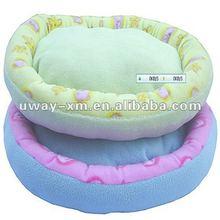 UW-NPB-031 Luxury oval light green dog cushion,made of shorn-pile