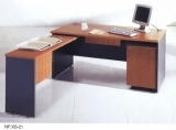 Wooden Top Steel Cabinet Office Desk