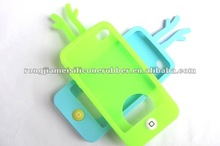 Antler shape waterproof cover popular green and blue silicone cover for Iphone