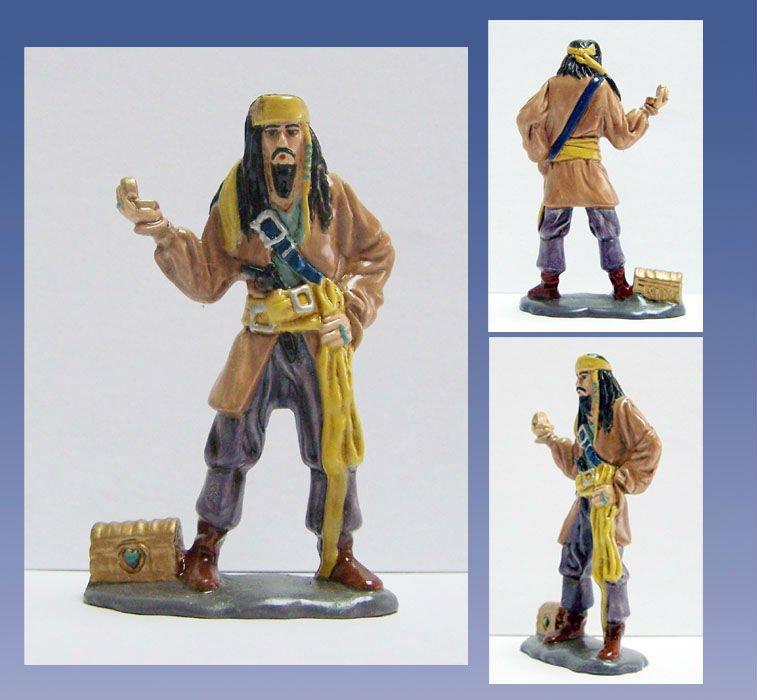Pirata resina estatua