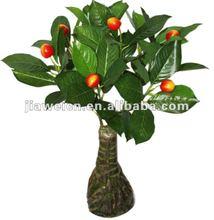 Artificial small cherry fruits bonsai